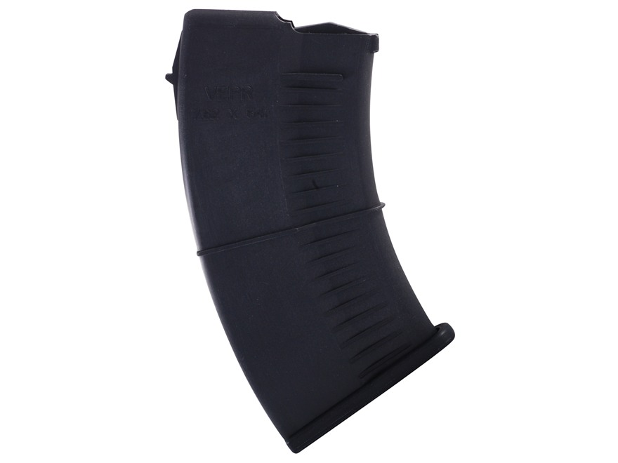 SGM Tactical Magazine Vepr 7.62x54mm Rimmed Russian 10-Round Polymer Black