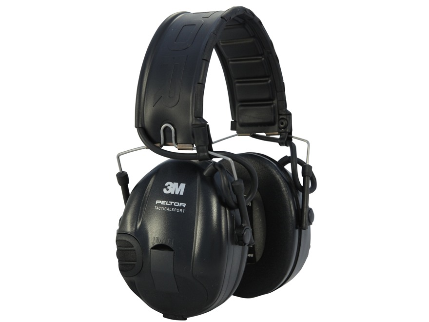 Peltor TacSport Electronic Earmuffs (NRR 20dB) Black