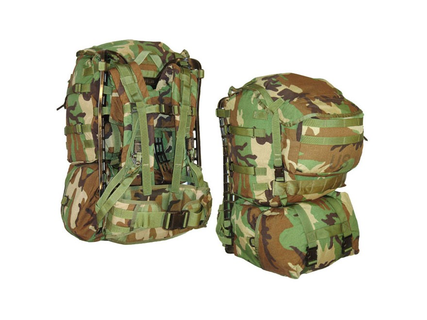 Military Surplus MOLLE II Standard Pack Grade 2 Woodland Camo