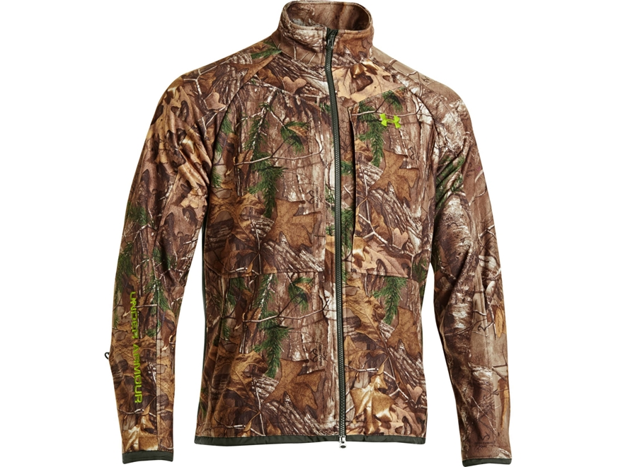 Under Armour Men's UA ColdGear Infrared Scent Control Rut Jacket Polyester Realtree Xtr...