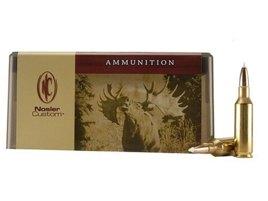 Nosler Custom Ammunition 7mm Remington Short Action Ultra Magnum 140 Grain AccuBond Spi...