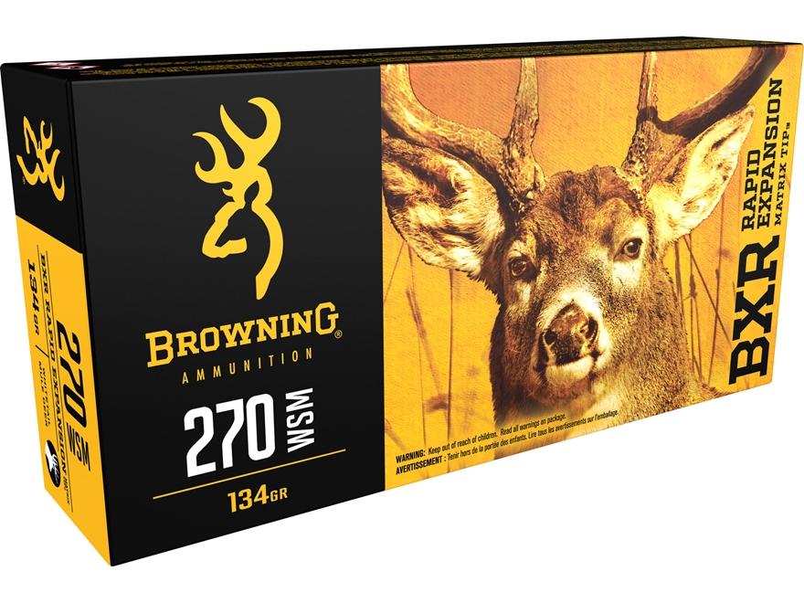 Browning BXR Rapid Expansion Ammunition 270 Winchester Short Magnum (WSM) 134 Grain Mat...