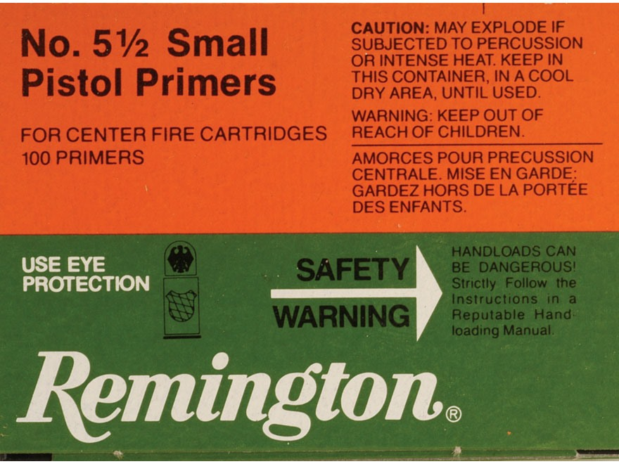 Remington Small Magnum Pistol Primers #5-1/2