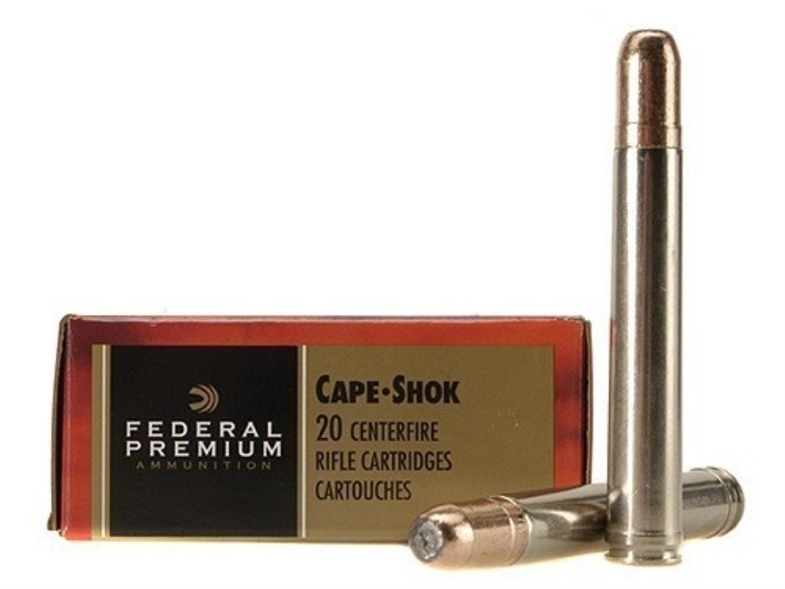 Federal Premium Cape-Shok Ammunition 458 Lott 500 Grain Trophy Bonded Bear Claw Box of 20
