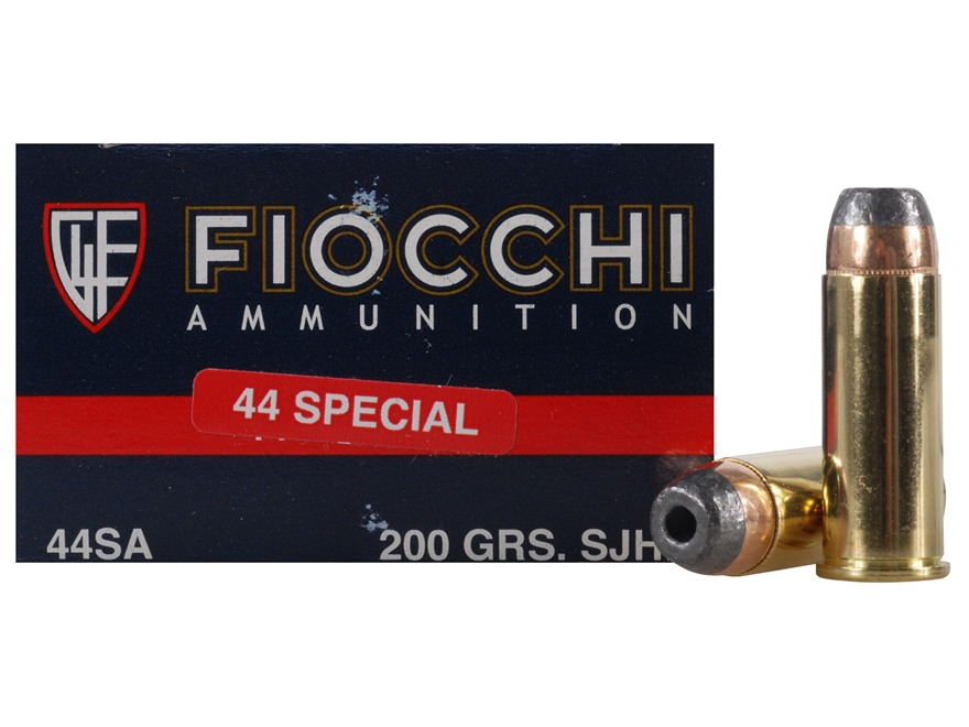 Fiocchi Shooting Dynamics Ammunition 44 Special 200 Grain Semi-Jacketed Hollow Point Bo...