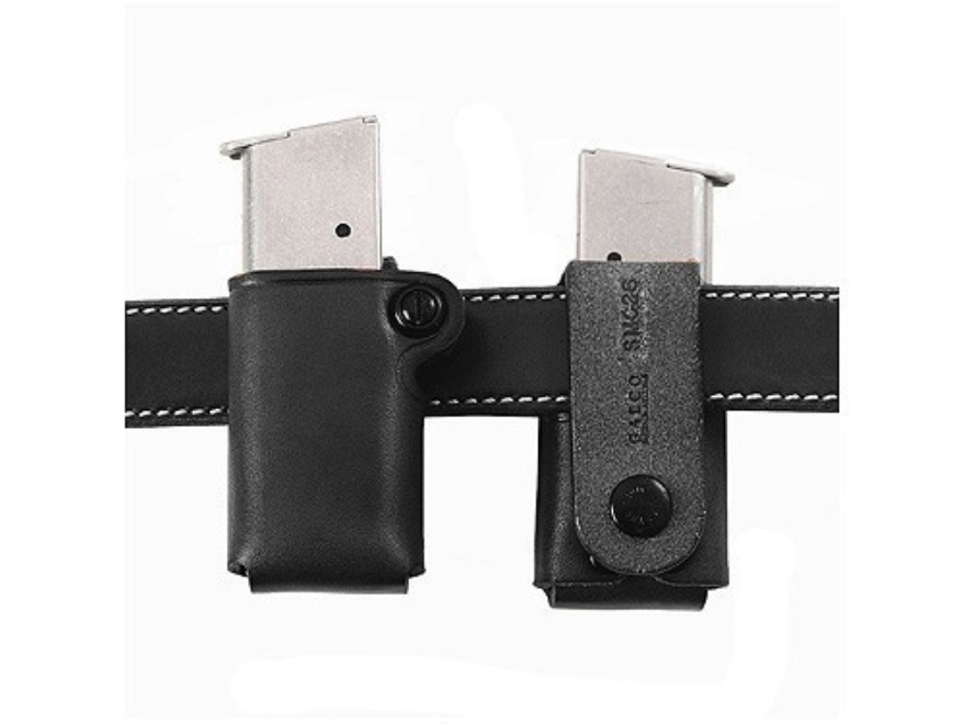 Galco Single Magazine Pouch 40 S&W, 9mm Double Stack Polymer Magazine Leather Black