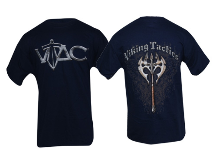 VTAC Axe Short Sleeve T-Shirt XL Cotton Navy Blue