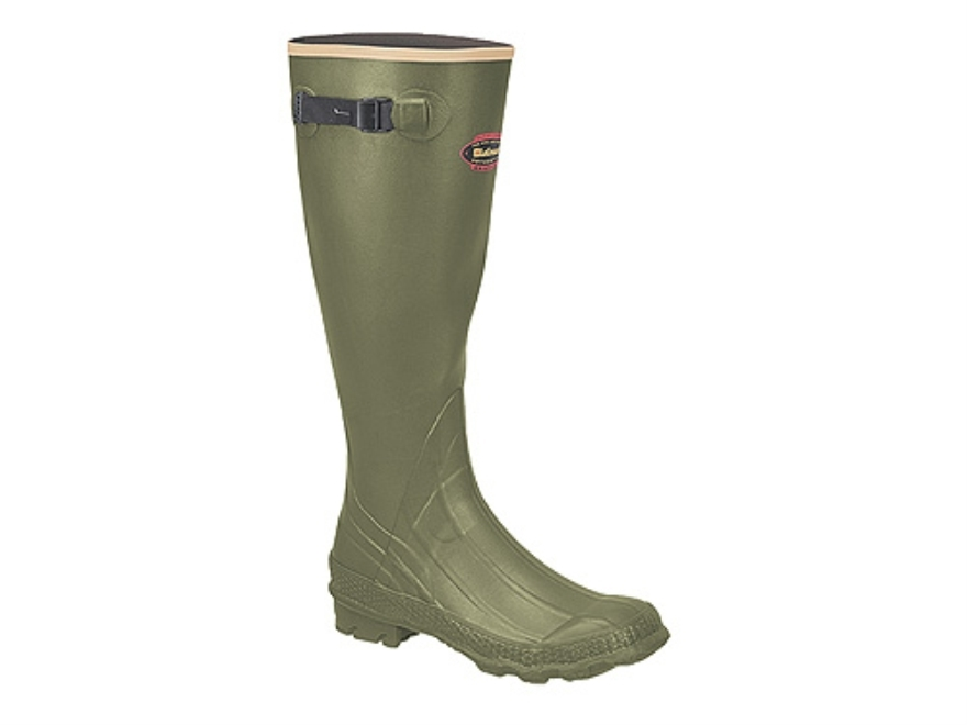 "LaCrosse Grange 18"" Waterproof Uninsulated Hunting Boots Rubber OD Green Men's"