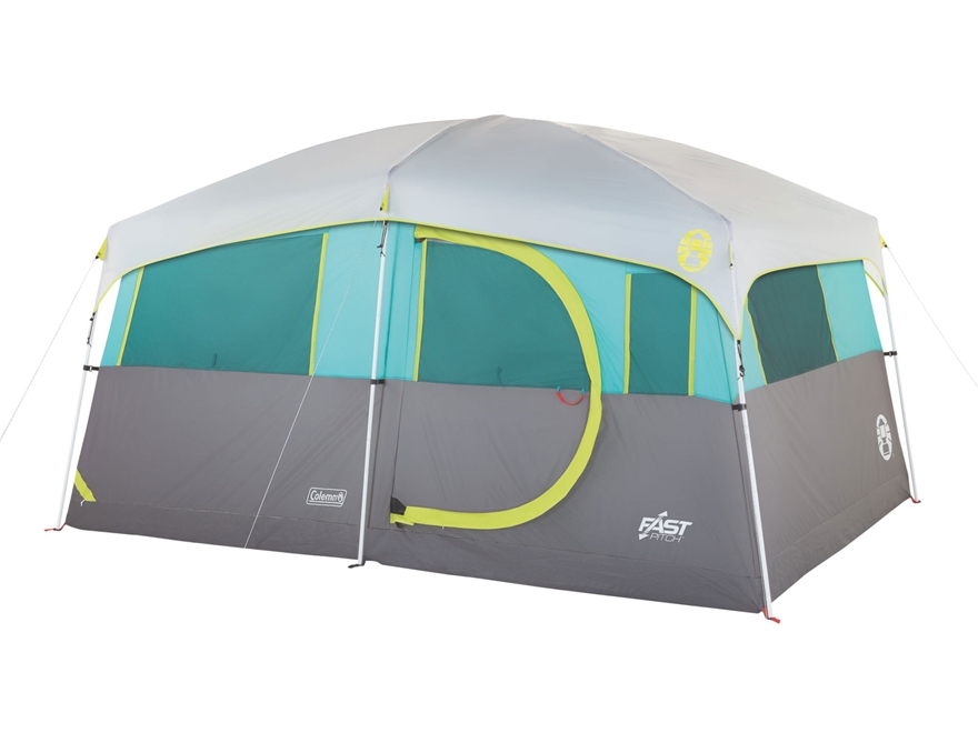 """Coleman Tenaya Lake Lighted FastPitch 8 Person Cabin Tent 156"""" x 108"""" x 80"""" with Closet..."""