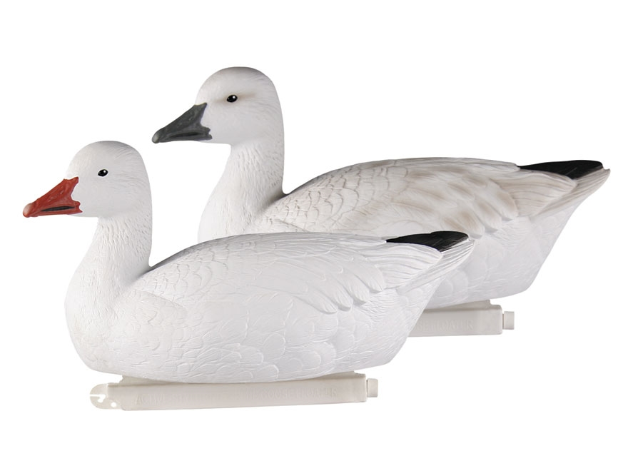 GHG Pro-Grade Active Floater Snow Goose Decoy Pack of 4