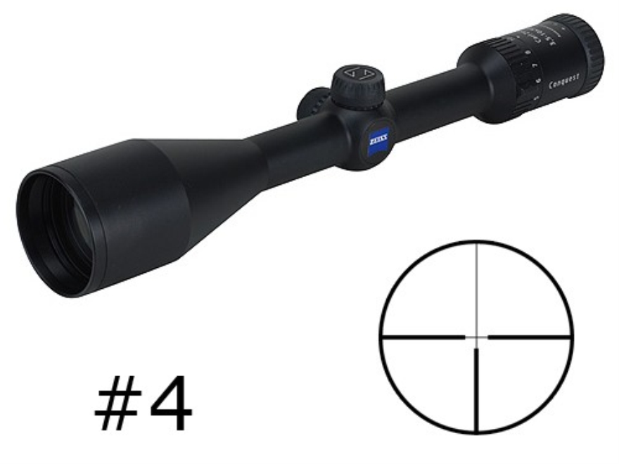 Zeiss MC Conquest Rifle Scope 3.5-10x 50mm #4 Reticle Matte