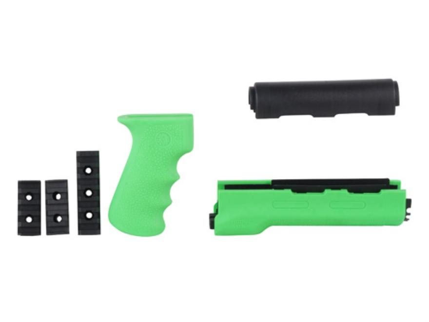 Hogue 2-Piece OverMolded Grip and Handguard AK-47, AK-74 Yugoslavian Rubber Zombie Green