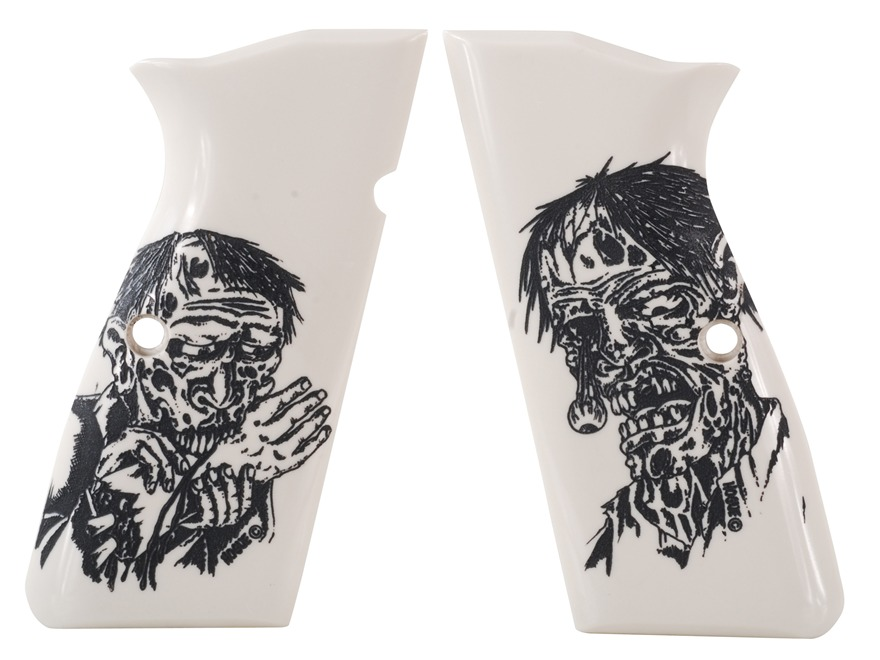 Hogue Grips Browning Hi-Power Ivory Polymer Zombie Pattern