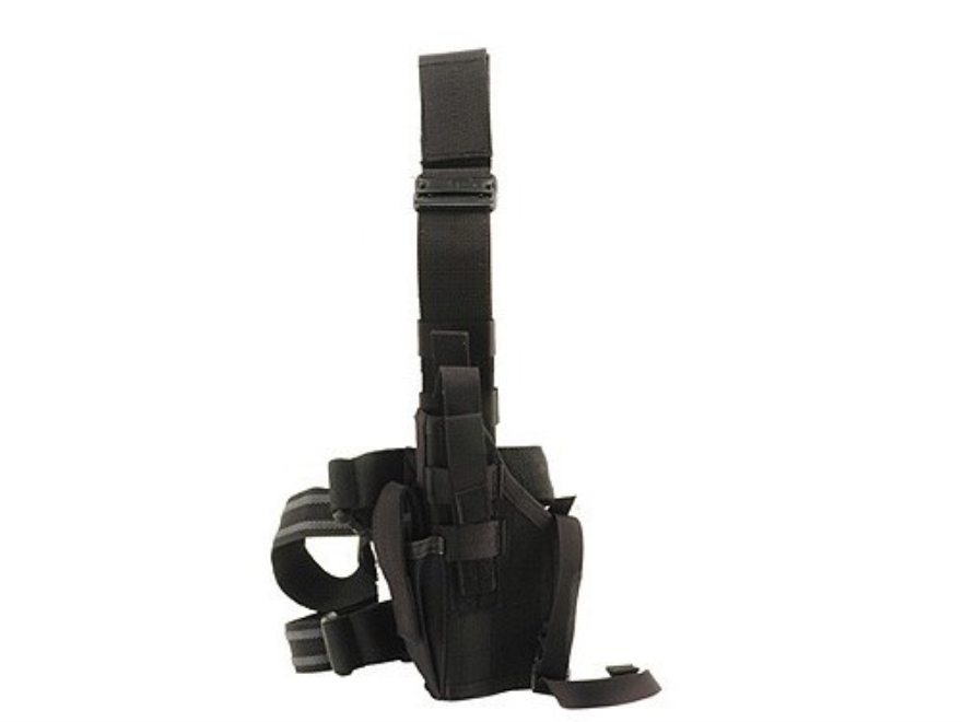 BLACKHAWK! Omega 6 Elite Drop Leg Holster 1911 Government, Commander Nylon Black