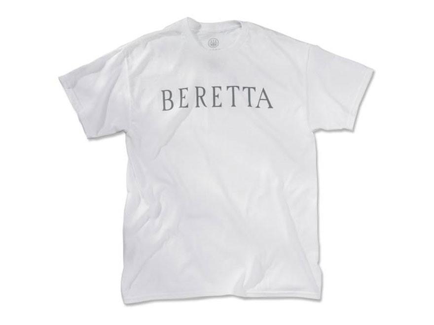 "Beretta Men's ""Beretta"" Short Sleeve T-Shirt Cotton White Medium"