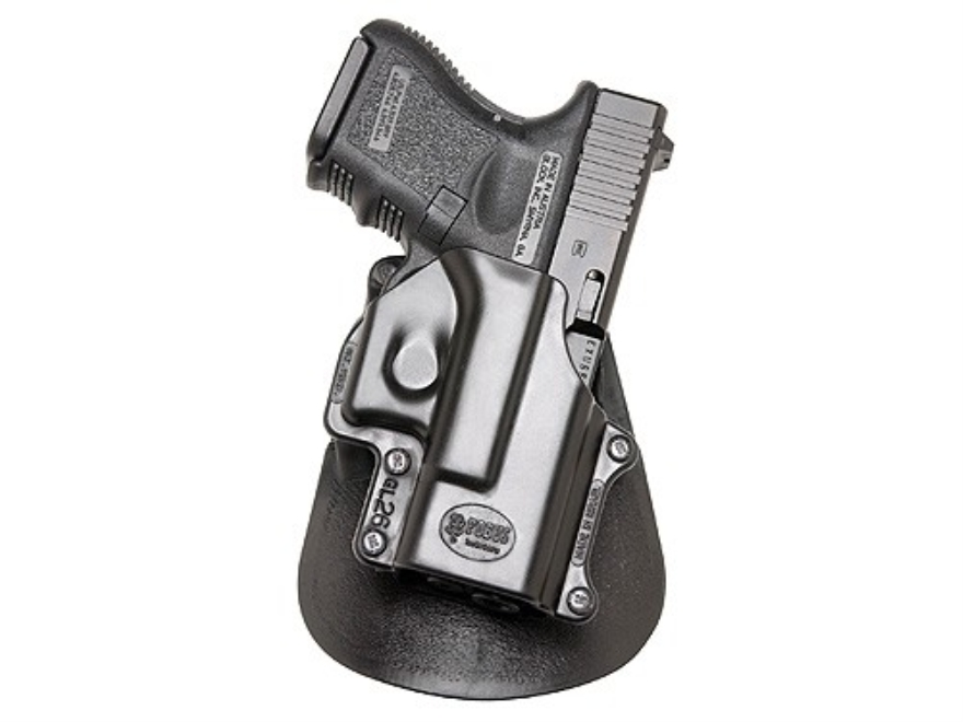 Fobus Paddle Holster Right Hand Glock 26, 27, 33 Polymer Black