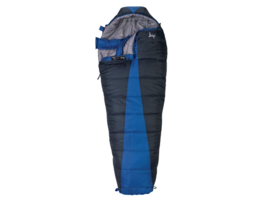 "Slumberjack Latitude -20 Degree Mummy Sleeping Bag 32"" x 82"" Polyester Navy and Blue"
