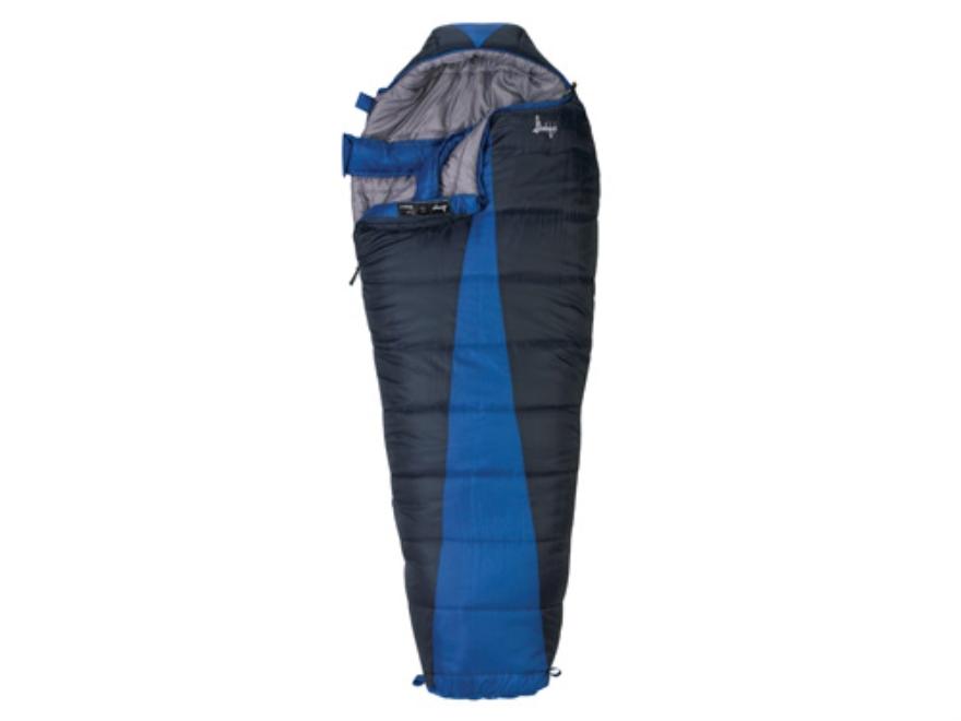 "Slumberjack Latitude -20 Degree Mummy Sleeping Bag 32"" x 82"" Polyester Navy and Blue"