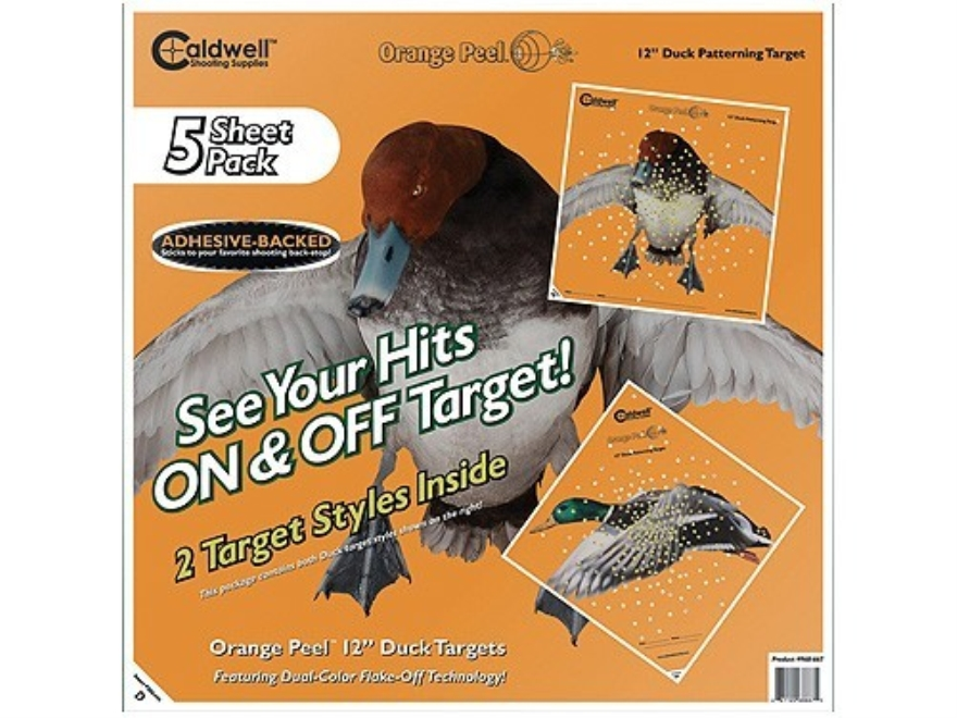 """Caldwell Orange Peel Duck Target 12"""" Self-Adhesive Package of 25"""