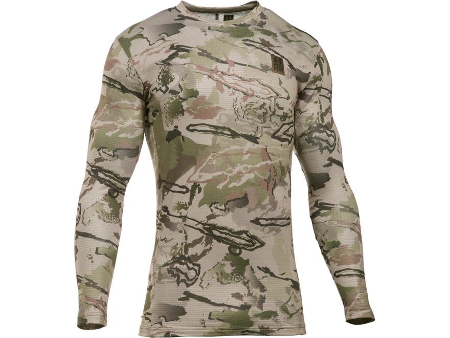 Under Armour Men's UA Ridge Reaper Base Layer Crew Shirt Long Sleeve Polyester Ridge Re...