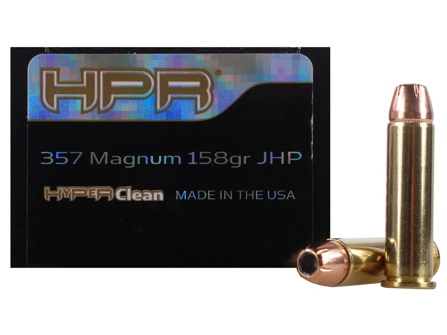 HPR HyperClean Ammunition 357 Magnum 158 Grain Hornady XTP Jacketed Hollow Point Box of 50