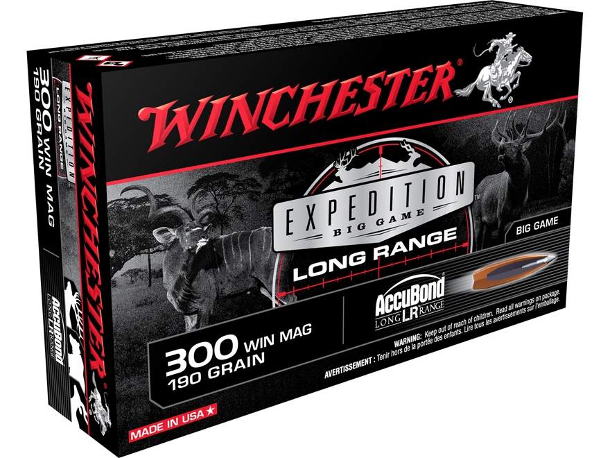 Winchester Expedition Big Game Long Range Ammunition 300 Winchester Magnum 190 Grain No...