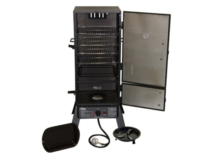 Masterbuilt 4-Rack Vertical Propane Smoker Steel Black