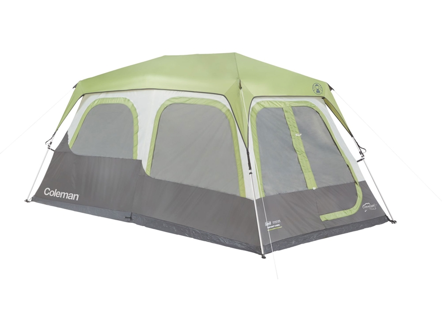 "Coleman Instant 8 Person Cabin Tent 168"" x 96"" x 76"" Polyester Gray and Green"