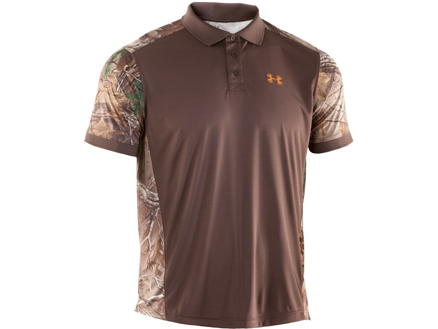Under armour men 39 s wylie polo shirt short sleeve polyester for Men s polyester polo shirts