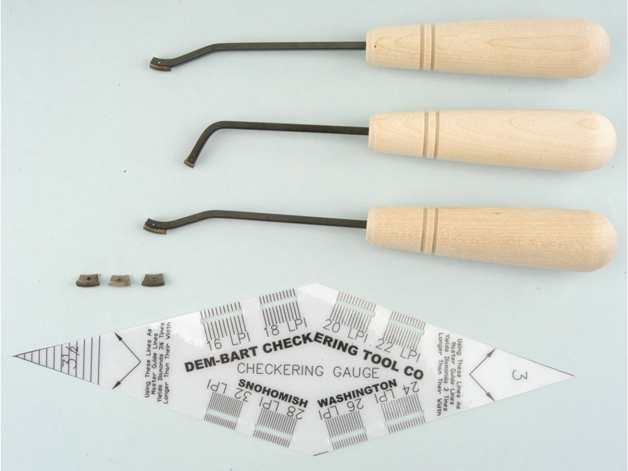 Dem-Bart Starter Checkering Kit 18 Lines per Inch
