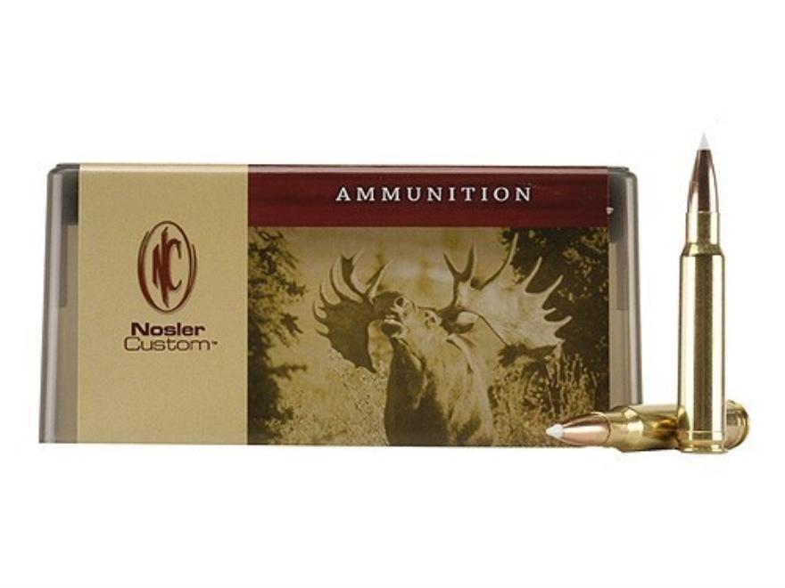 Nosler Custom Ammunition 338 Winchester Magnum 225 Grain AccuBond Spitzer Box of 20