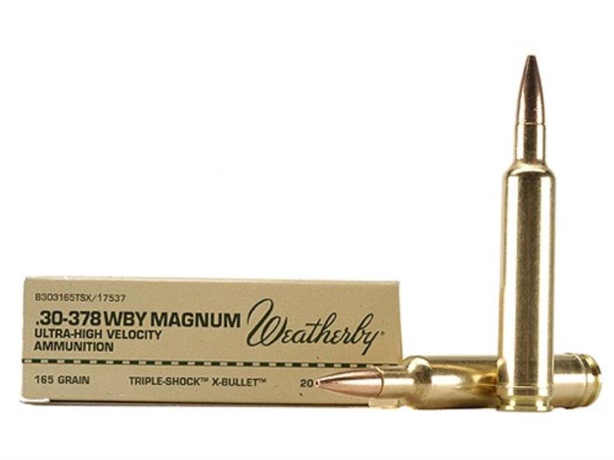 Weatherby Ammunition 30-378 Weatherby Magnum 165 Grain Barnes Triple-Shock X Bullet Hol...