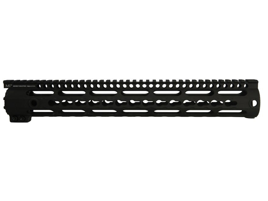 Midwest Industries K-Series Free Float KeyMod Handguard High Profile LR-308 Aluminum Black