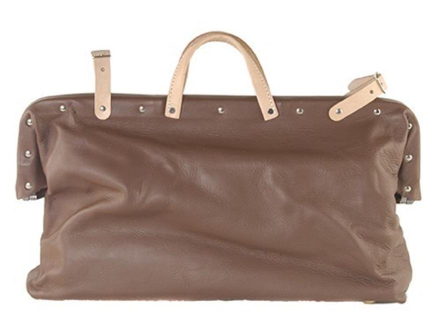 Oklahoma Leather Carpet Bag Leather Brown