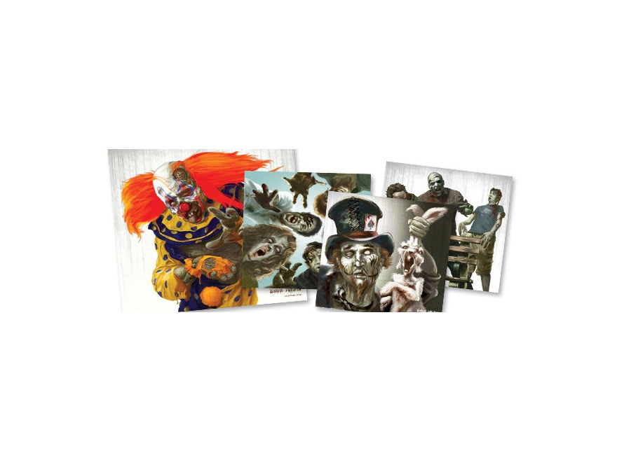 "Crosman Zombie Target 9.75"" x 9"" 20 Pack 5 Each of 4 Designs"