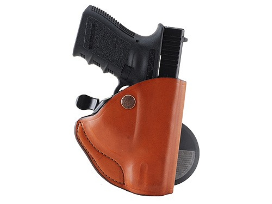 Bianchi 83 PaddleLok Paddle Holster Right Hand Glock 26, 27 Leather Tan