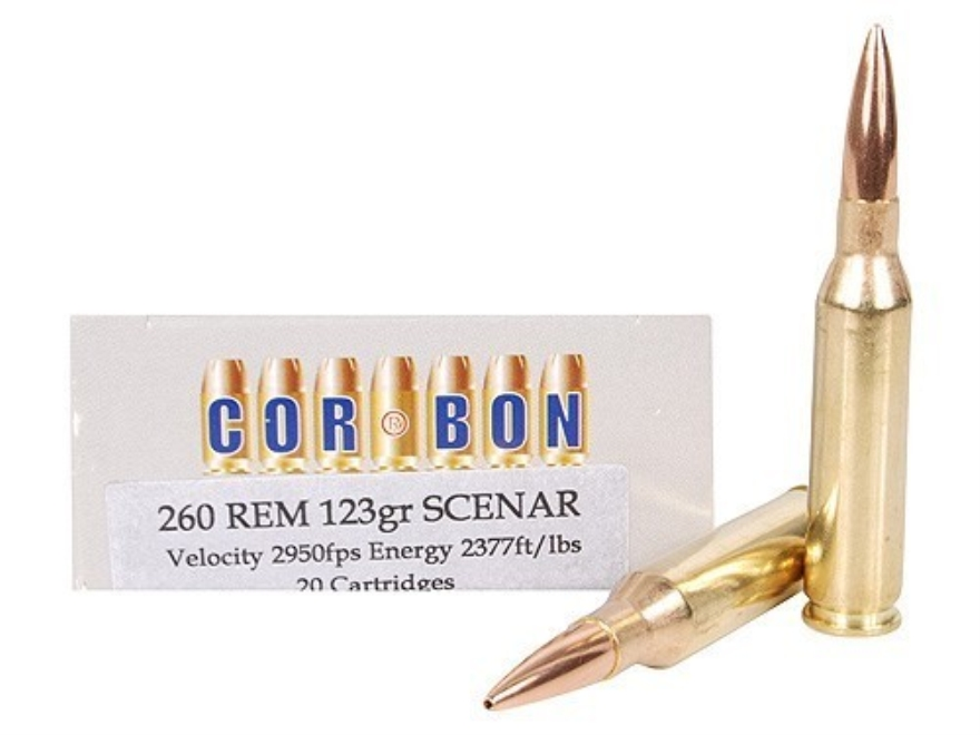 Cor-Bon Performance Match Ammunition 260 Remington 123 Grain Lapua Scenar Box of 20