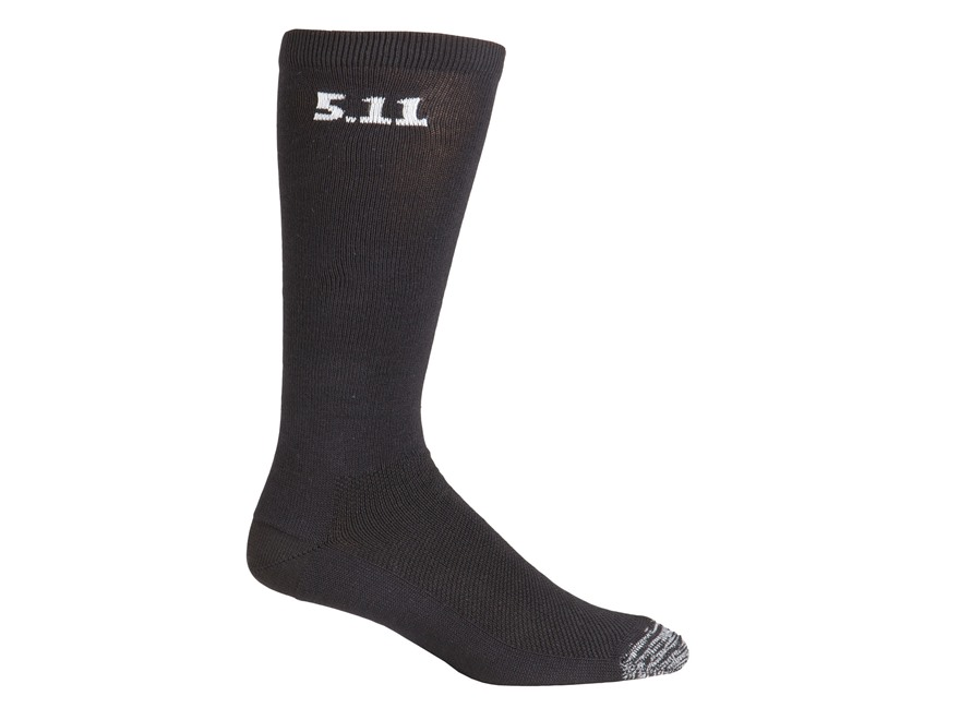 "5.11 Men's Socks 9"" Synthetic Blend Black 3 Pairs"