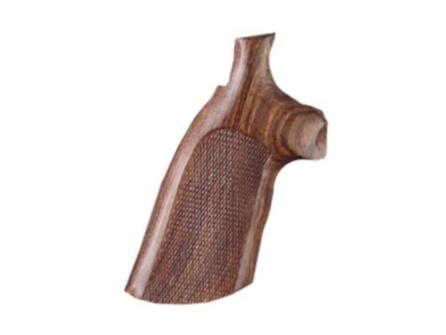 Hogue Fancy Hardwood Grips Colt Python Checkered