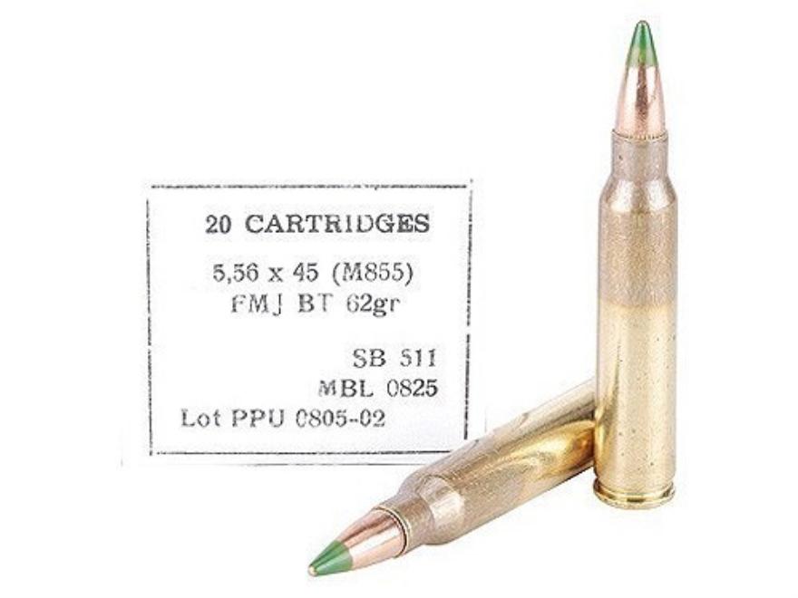Prvi Partizan Ammunition 5.56x45mm NATO 62 Grain M855 SS109 Penetrator Full Metal Jacke...