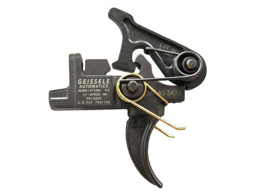 "Geissele Hi-Speed National Match Adjustable Trigger Group AR-15 Large Pin .170"" Two Sta..."
