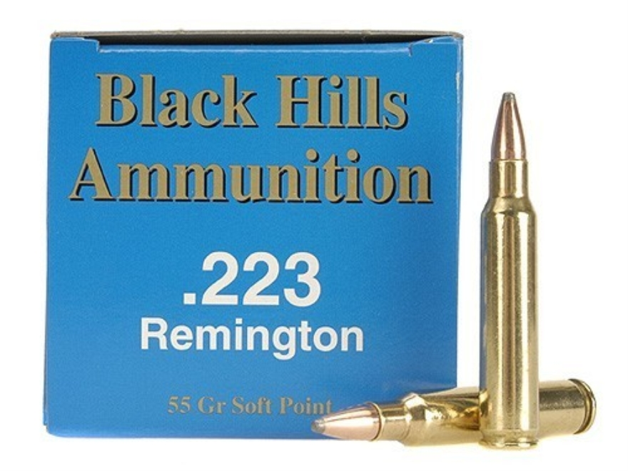 Black Hills Remanufactured Ammunition 223 Remington 55 Grain Soft Point Box of 50