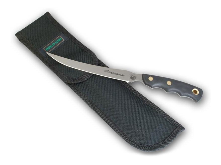 "Knives of Alaska Steelheader Fixed Blade Hunting Knife 5.75"" Fillet 440C Stainless Stee..."