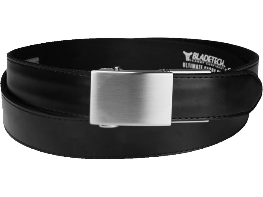 """Blade-Tech Ultimate Carry Belt Leather Black/Silver 25"""" to 50"""""""