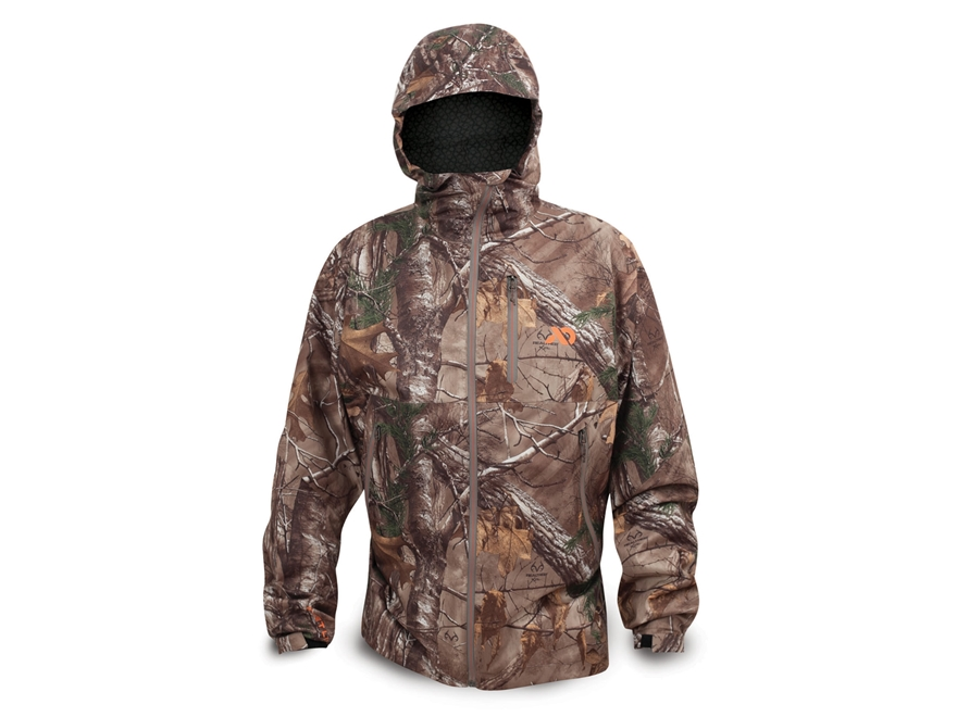 First Lite Men's Boundary Stormtight Waterproof Jacket Synthetic Blend Realtree Xtra Small