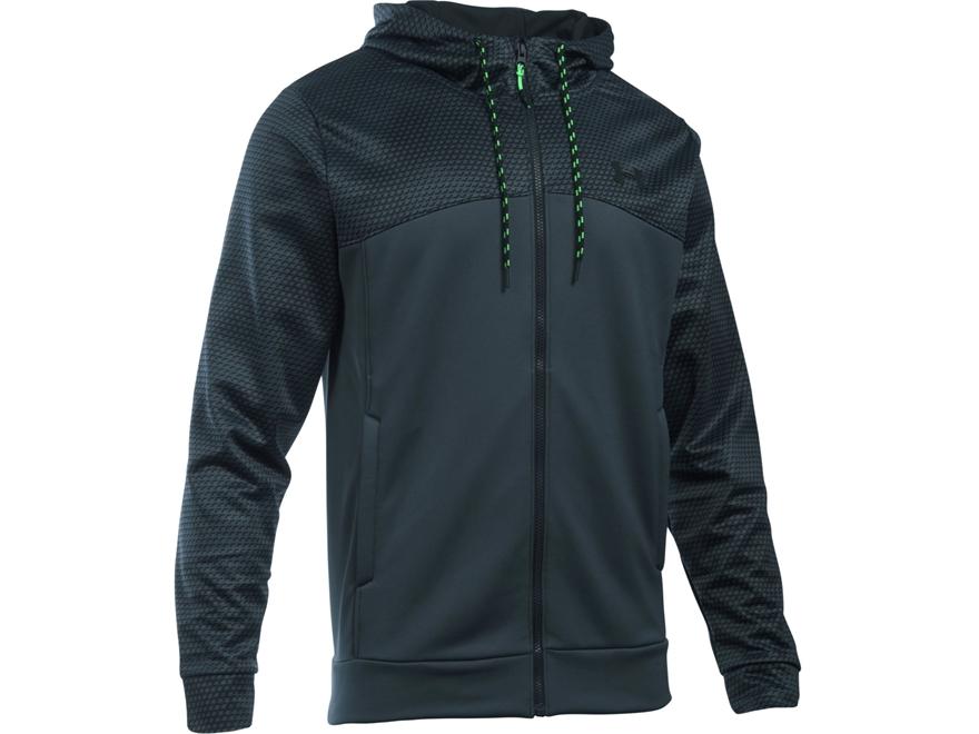 Under Armour Men's UA Armour Fleece Franchise Full Zip Hoodie Polyester Stealth Game Da...