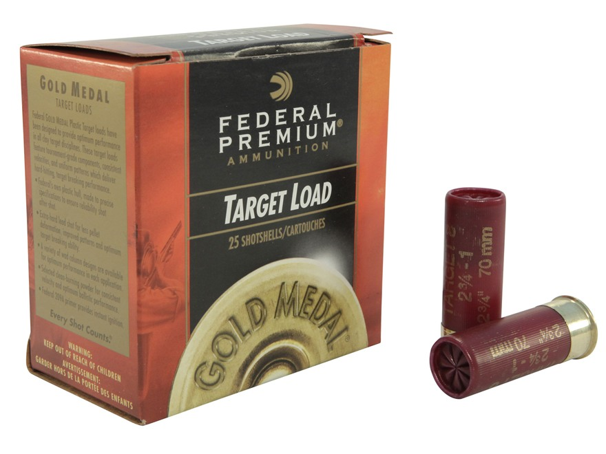 "Federal Premium Gold Medal Ammunition 12 Gauge 2-3/4"" 1 oz #8 Shot"