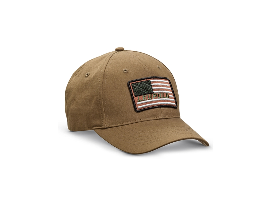 Leupold Flag Logo Cap Hook-&-Loop Adjustment Twill Brown One Size Fits Most
