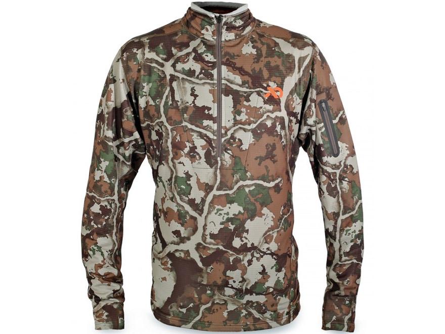 First Lite Men's Halstead Tech Fleece 1/4 Zip Shirt Long Sleeve Synthetic Blend