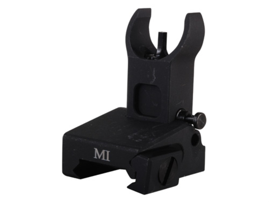 Midwest Industries Flip-Up Low-Profile Front Sight Handguard Height AR-15 Aluminum Black